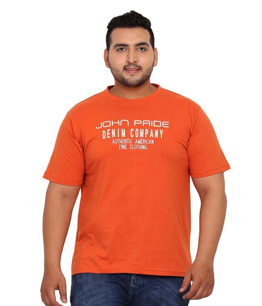 John Pride Orange Round T-Shirt