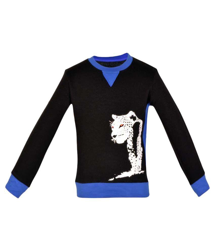 Gkidz Boys Black Full Sleeve Sweatshirt