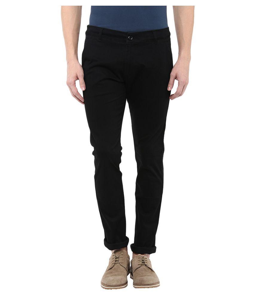 Bukkl Black Slim Pleated Trouser