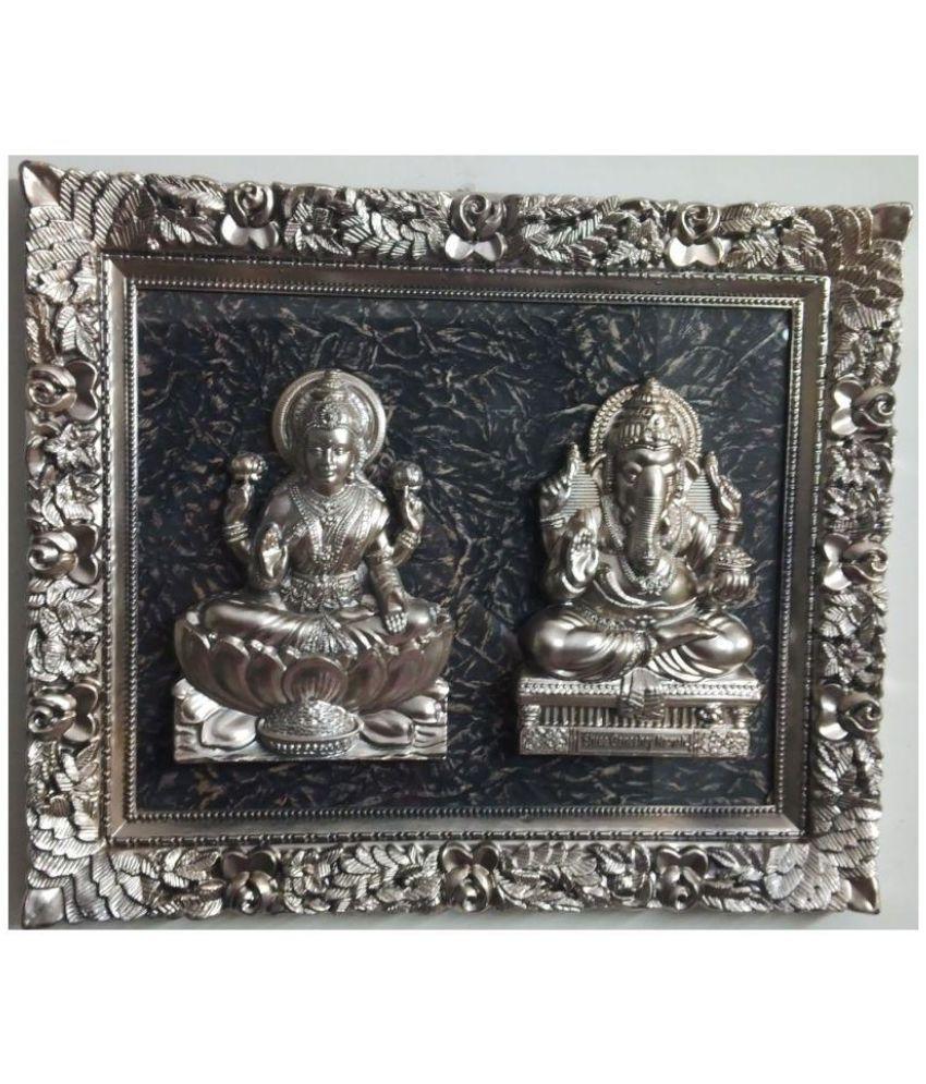Laps of Luxury Laxmi Ganesh Glass Idol