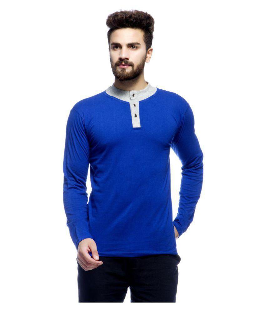 Demokrazy Blue Henley T-Shirt