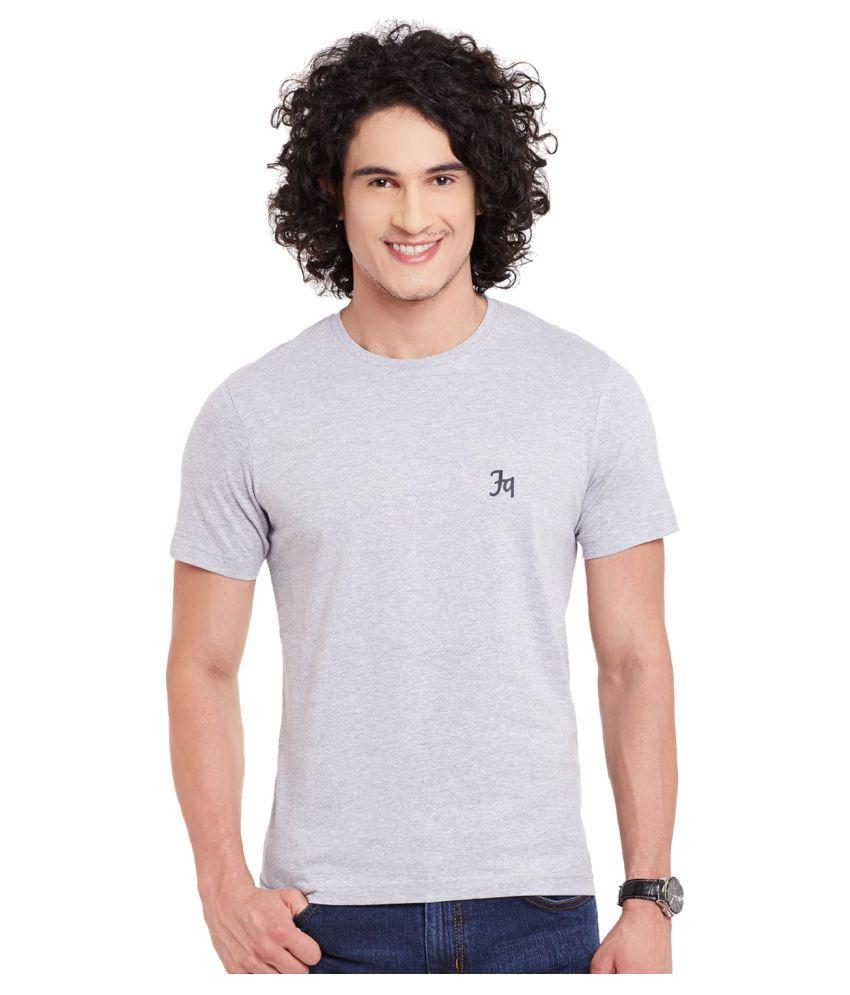 Fast N Fashion Grey Round T-Shirt