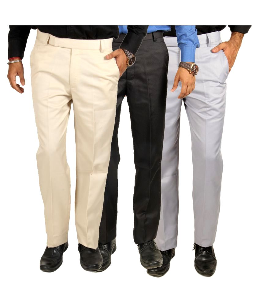 Van Galis Multi Regular Flat Trouser