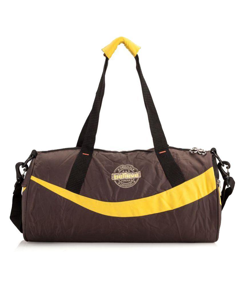 Believe Brown Gym Bag