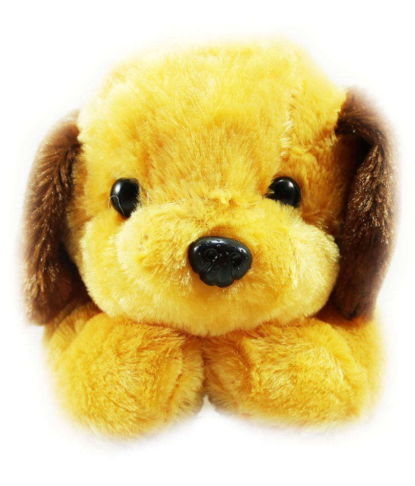 Tickles Yellow Stuffed Animal Adorable Lying Dog 35 cm