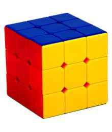 Adichai 3X3X3 Rubik Magic Sticker Less Cube