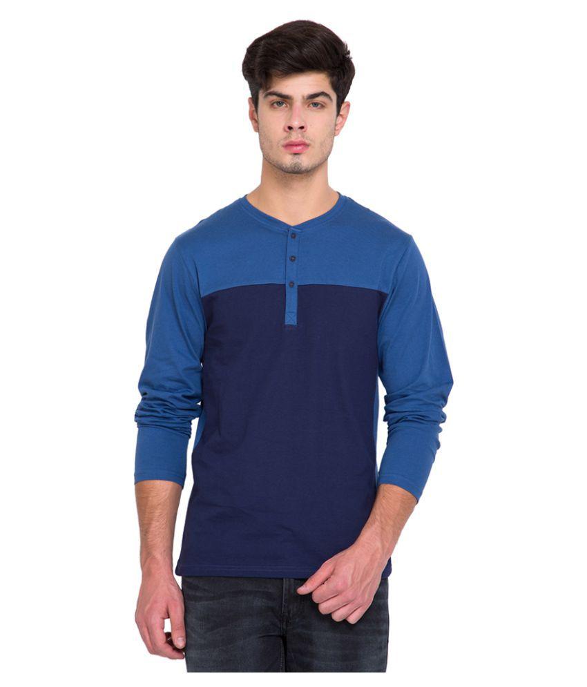 Highlander Blue Henley T-Shirt