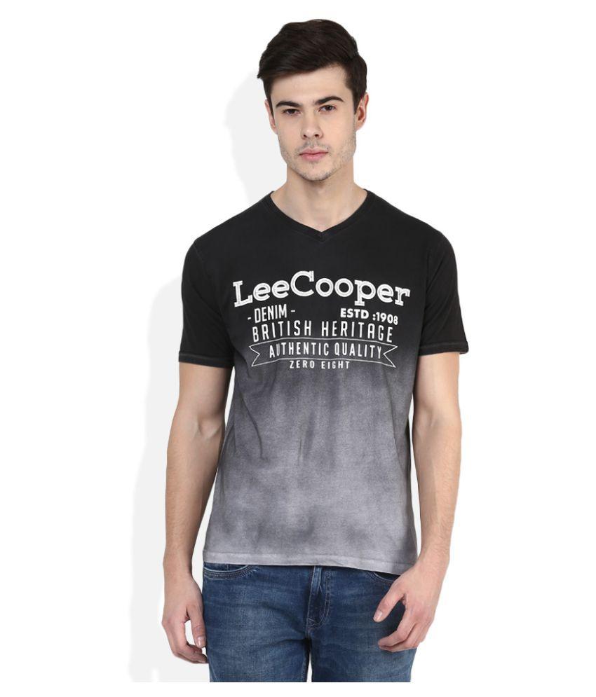 lee cooper black vneck tshirt buy lee cooper black v