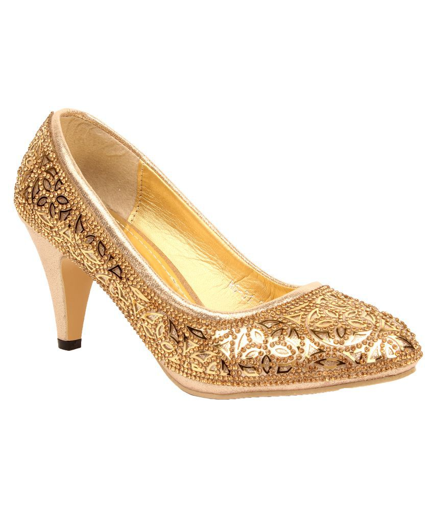 Foot Candy Gold Heels