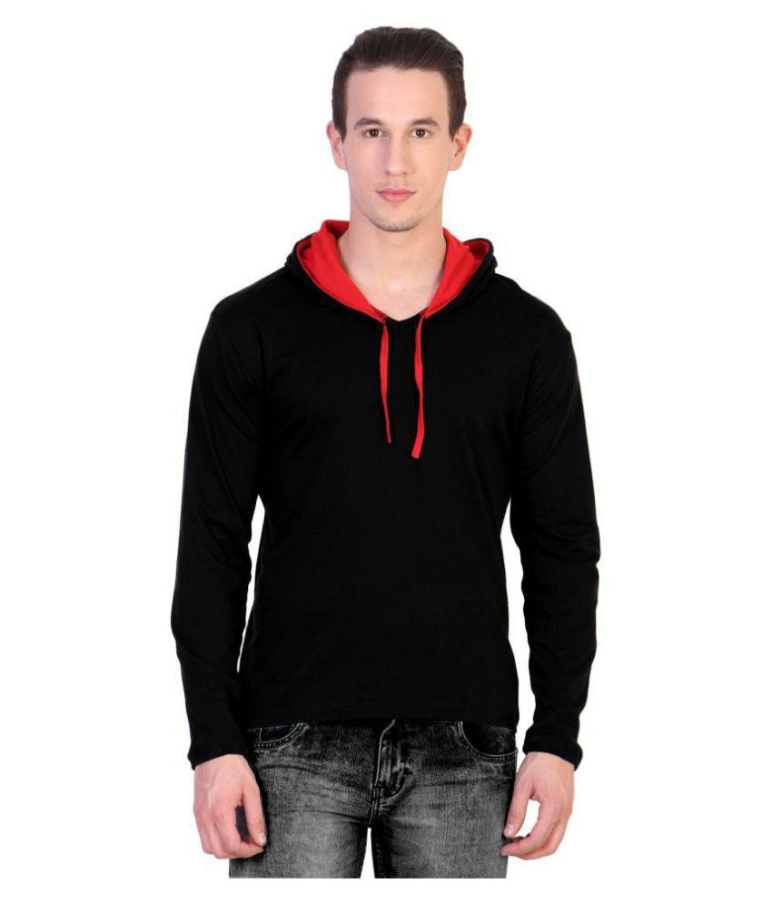 KatsoDesigns Black Hooded T-Shirt