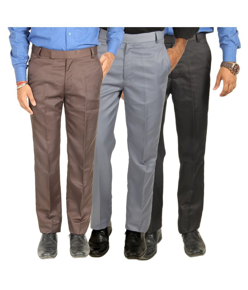 Van Galis Multi Regular Pleated Trouser