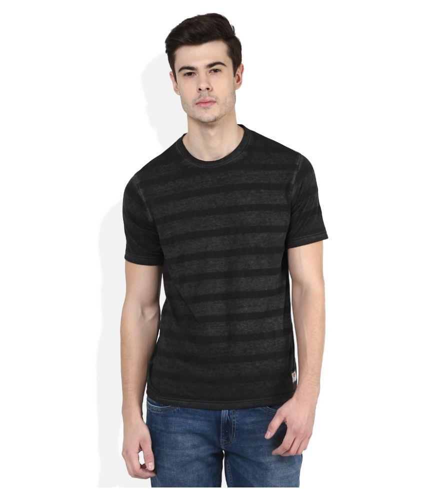 Lee Cooper Black Round T-Shirt
