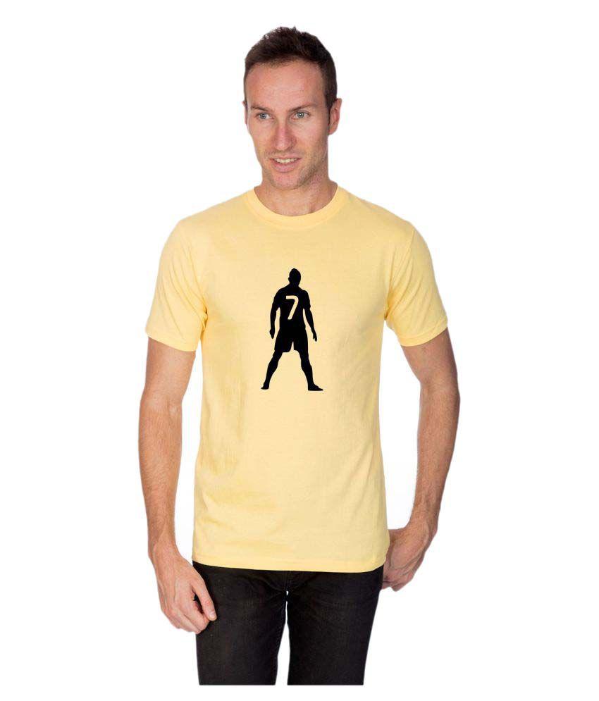 Artist Yellow Round T-Shirt