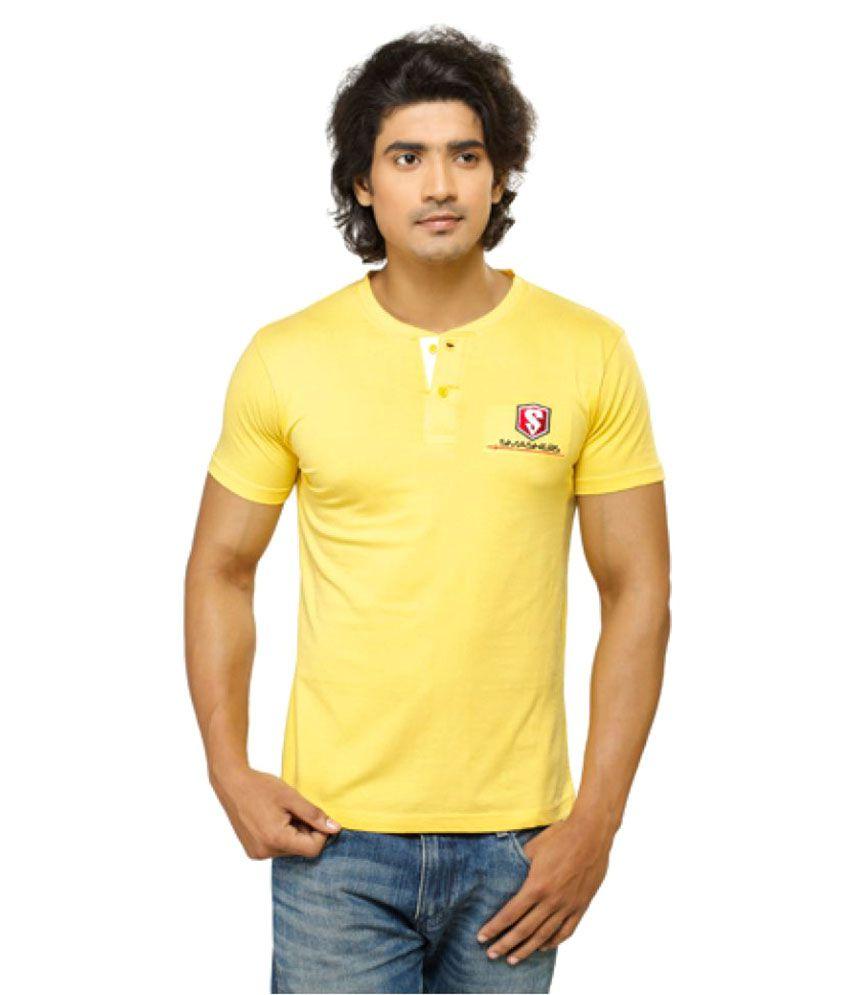 Smashers Yellow Henley T-Shirt