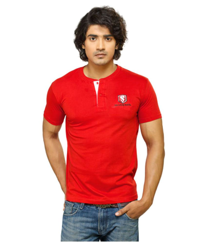 Smashers Red Henley T-Shirt