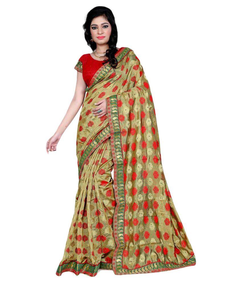 Indian Silk Multicoloured Banarasi Silk Saree