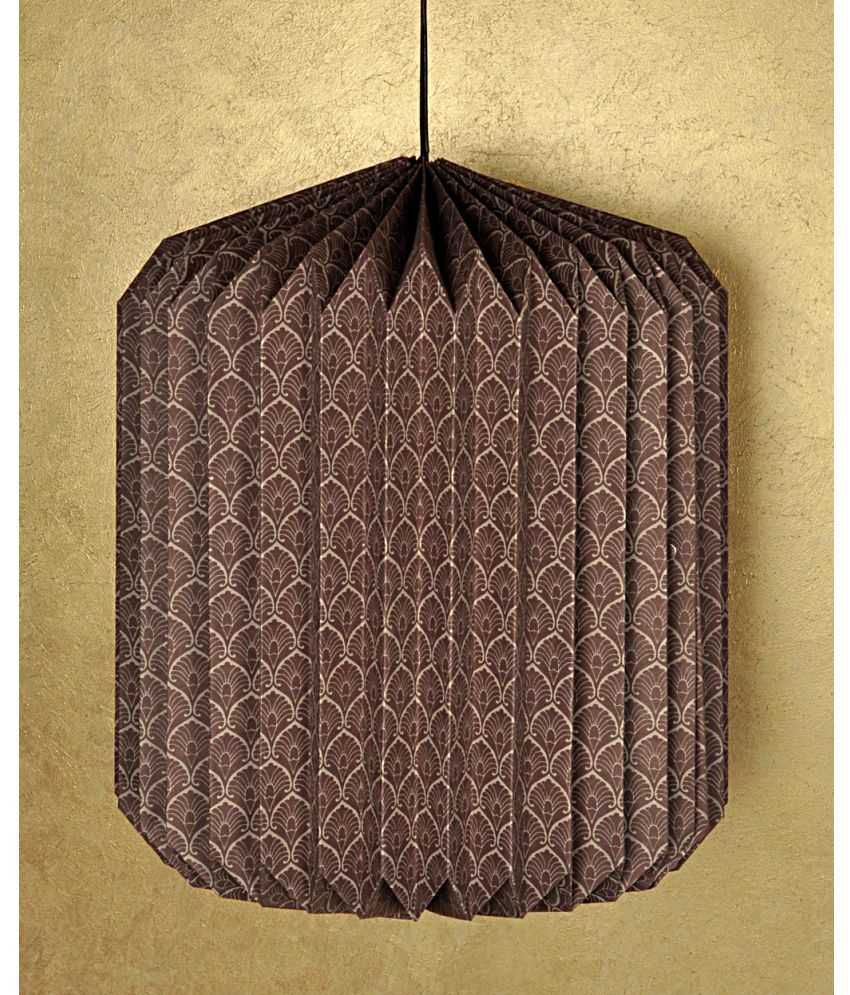 Lal Haveli Home Decoration Indoor Ceiling Light Night Paper Lamp Pendant Brown