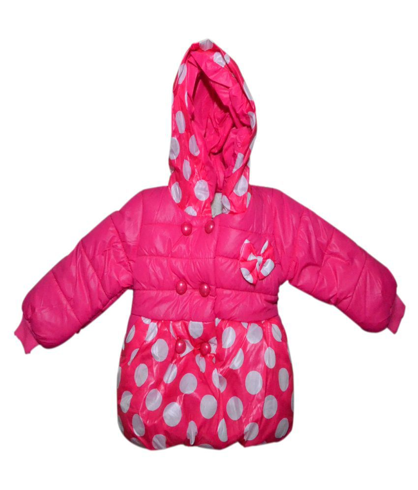 Winter Fuel Baby Pink Polyester Light Weight Jacket