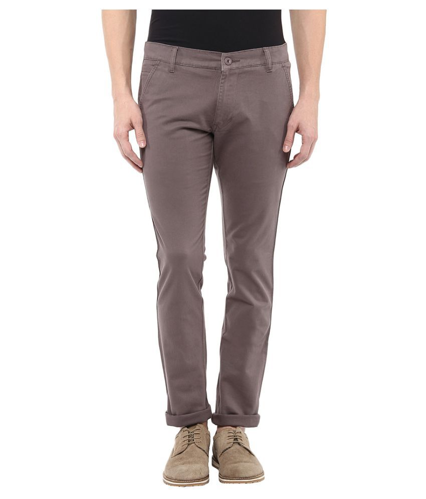 BUKKL Grey Slim Flat Trouser