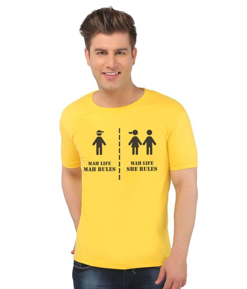 Eetee Yellow Round T-Shirt