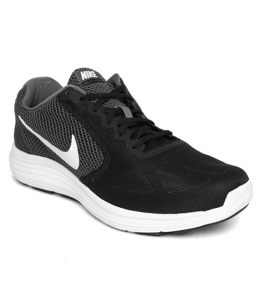 5e654e19e31 Nike NIKE REVOLUTION 3 Black Running Shoes - Buy Nike NIKE REVOLUTION 3  Black Running Shoes Online at Best Prices in India on Snapdeal