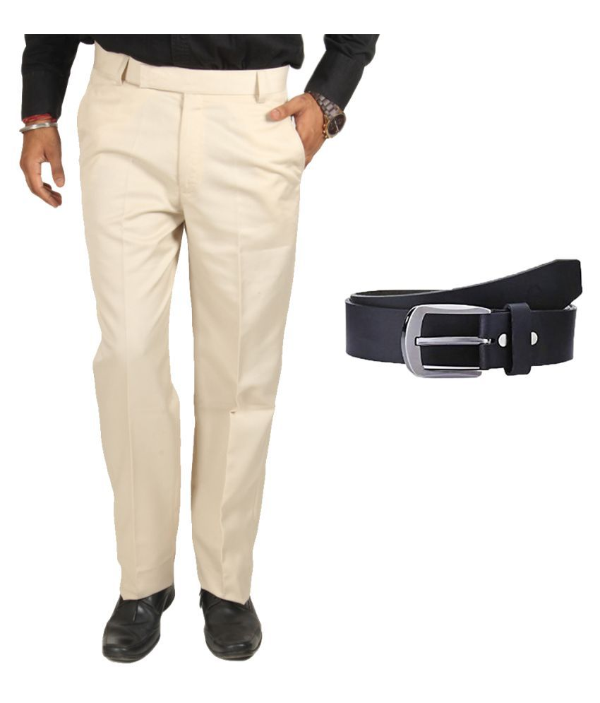 Van Galis Off White Regular Pleated Trouser
