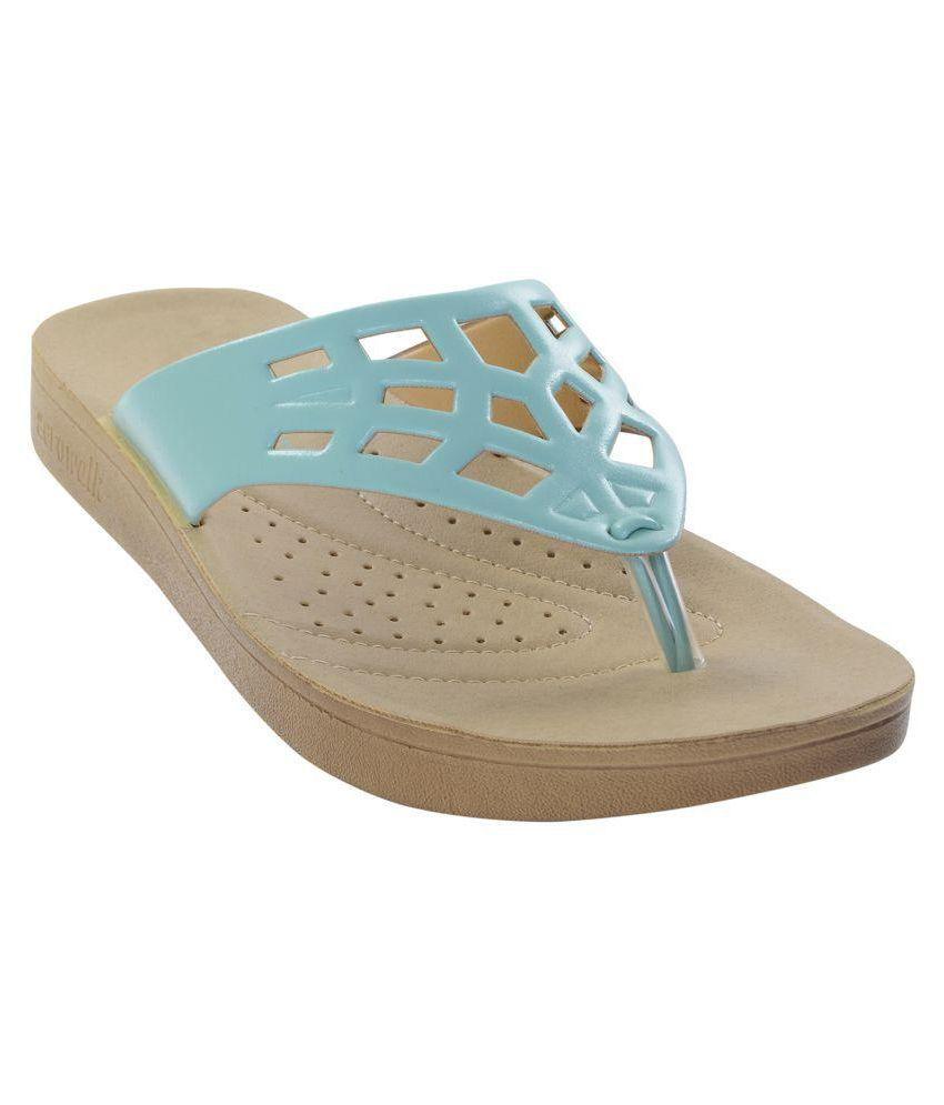 Aerowalk Blue Slippers