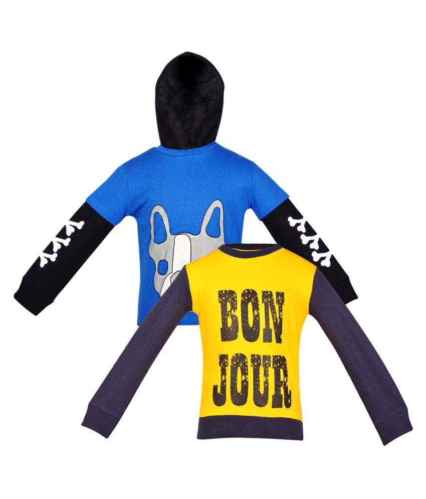 Gkidz Multi Color Crew Neck Sweatshirt