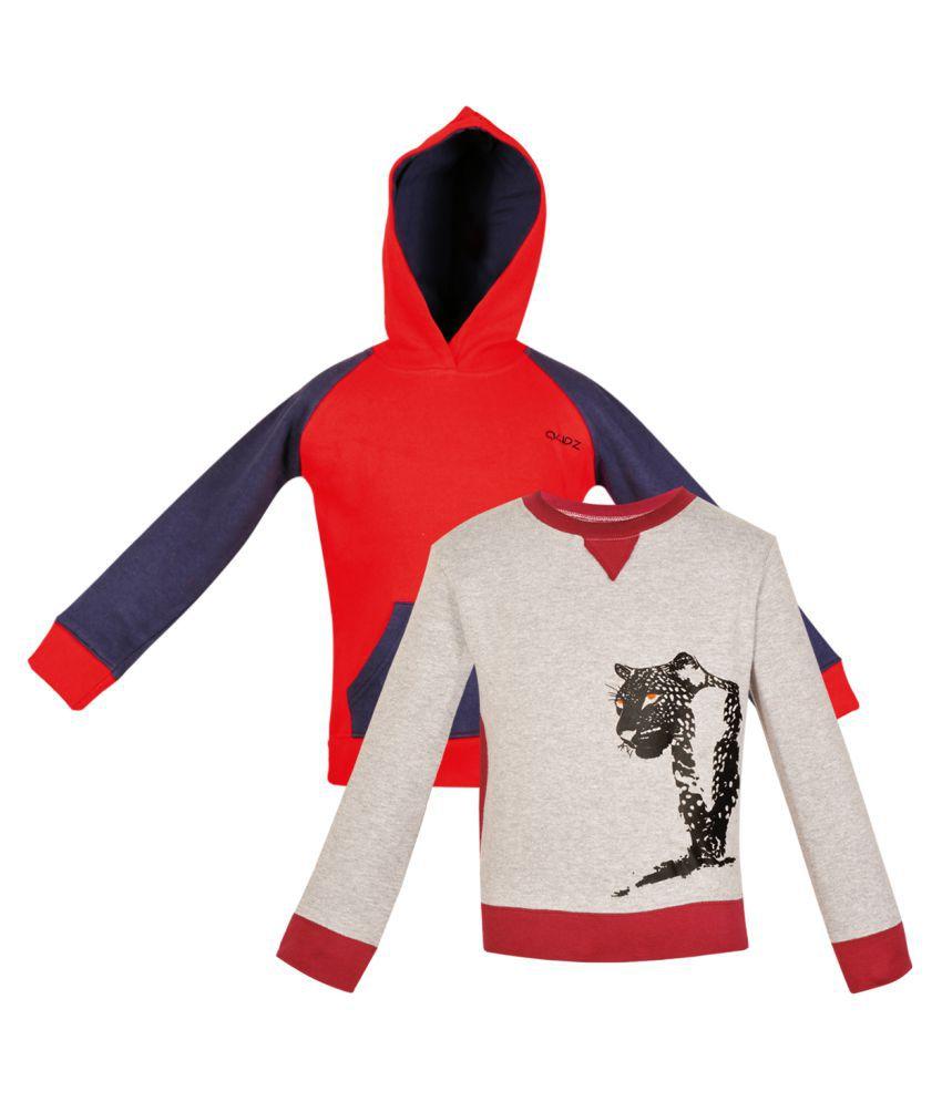 Gkidz Multicolour Crew Neck Sweatshirts - Pack of 2