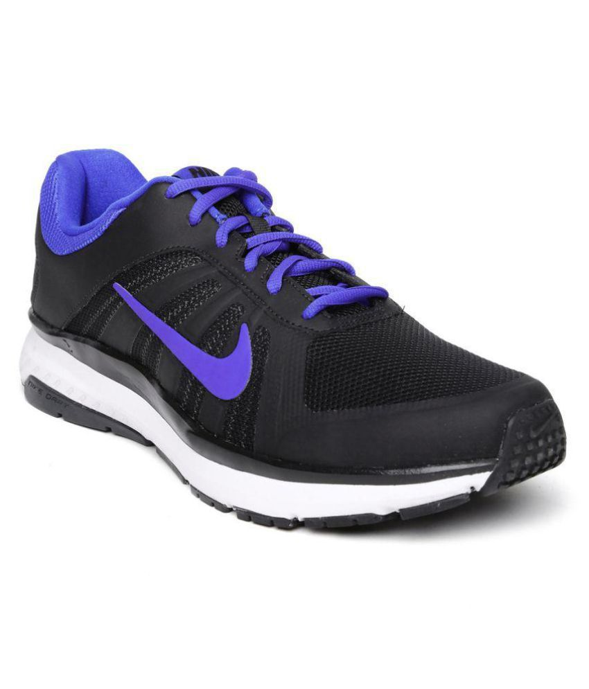 half off 365cc 6d3d8 Nike DART 12 MSL Black Running Shoes - Buy Nike DART 12 MSL Black Running  Shoes Online at Best Prices in India on Snapdeal