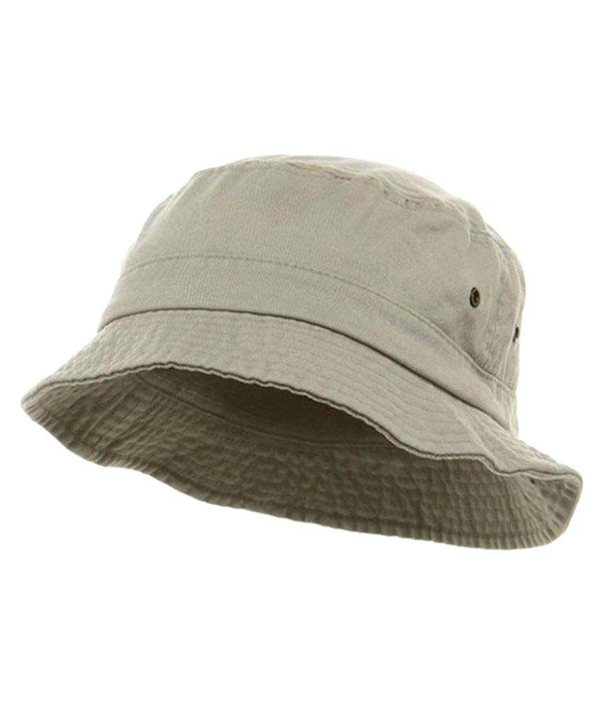 Roy White Plain Cotton Bucket Hat