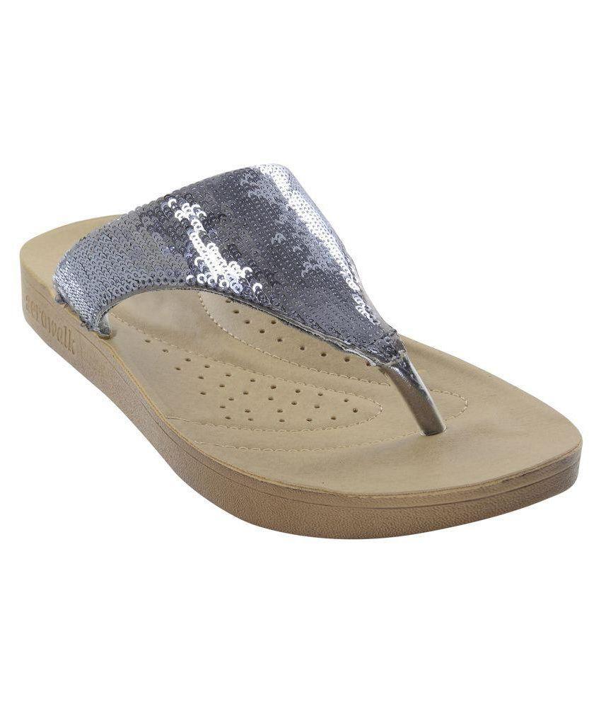 Aerowalk Silver Slippers