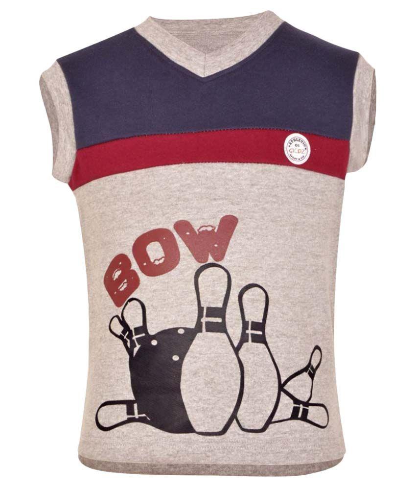 Gkidz Grey Sleeveless Sweatshirt