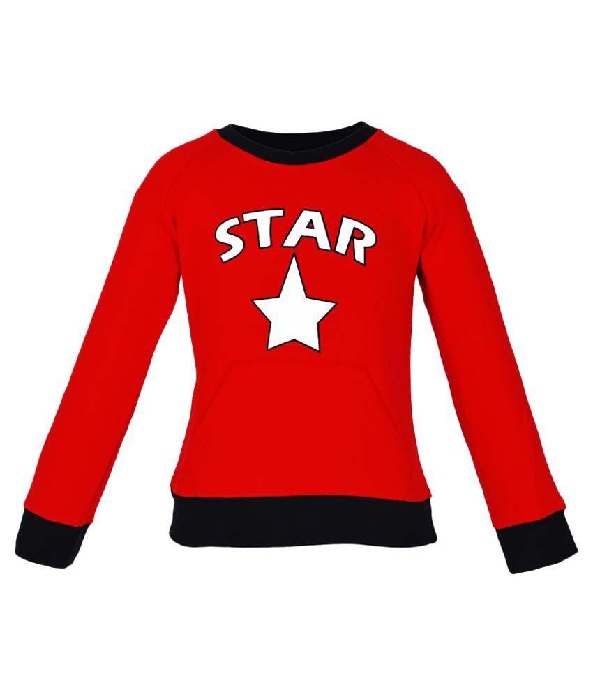 Gkidz Red Full Sleeve Sweatshirt