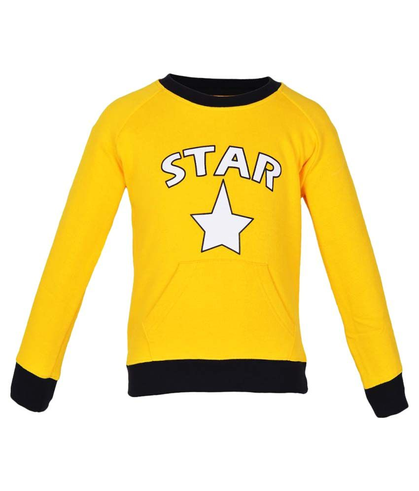 Gkidz Yellow Boys Full Sleeve Sweatshirt