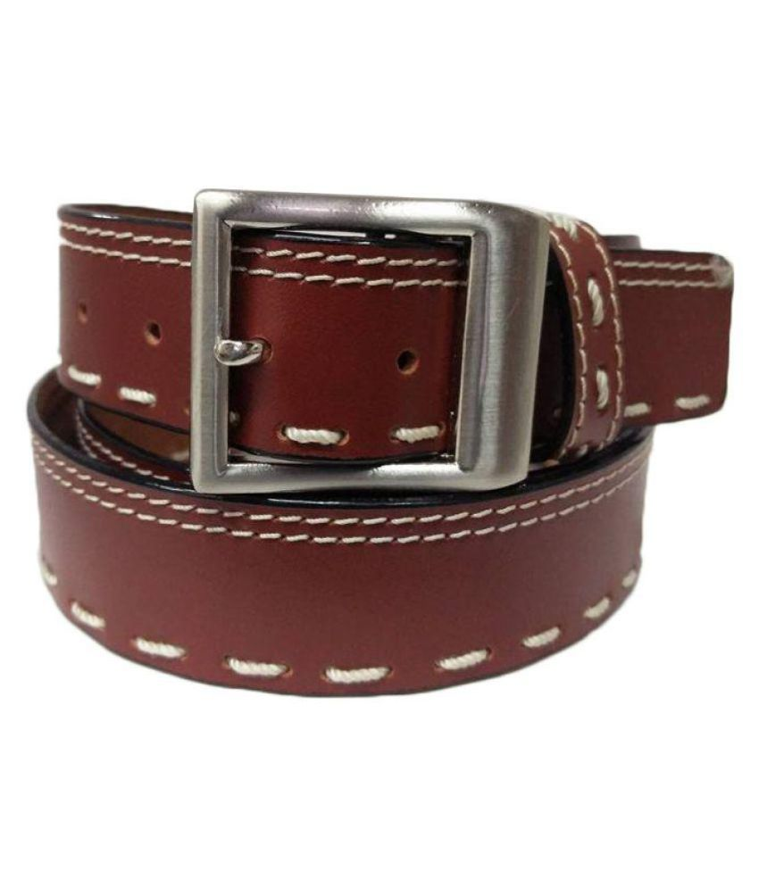 Revo Brown Leather Casual Belts