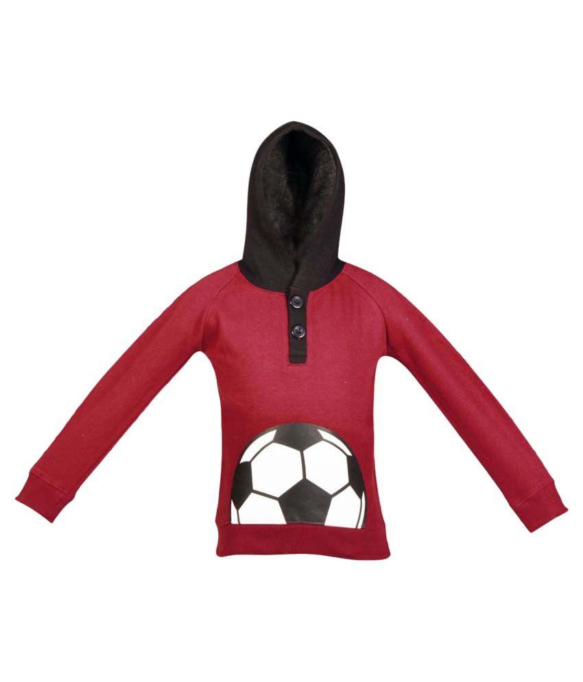 Gkidz Maroon Fleece Hooded Sweatshirt