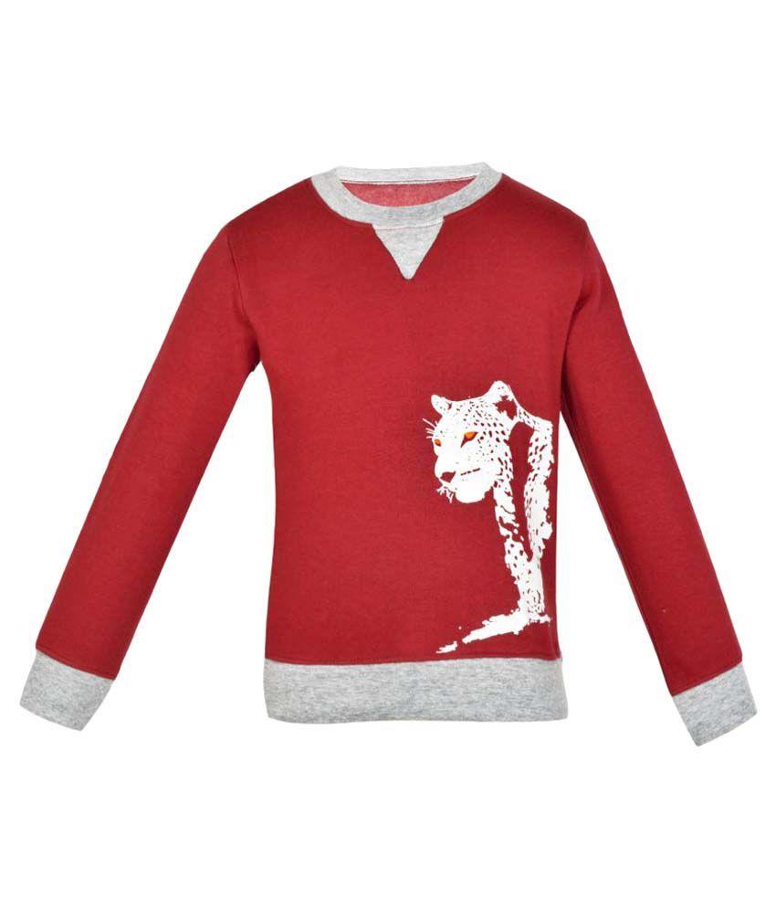 Gkidz Maroon Full Sleeve Sweatshirt
