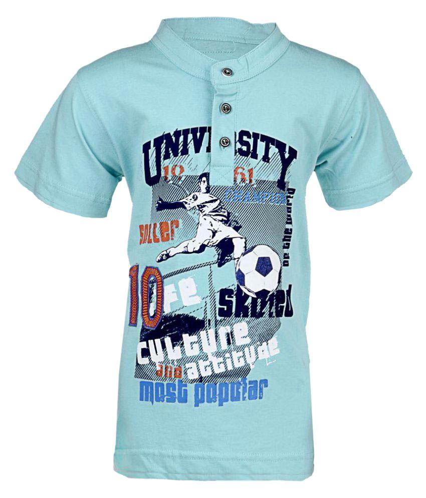 Msg Boys Kids Aqua Color Henley T Shirt Buy Msg Boys Kids Aqua