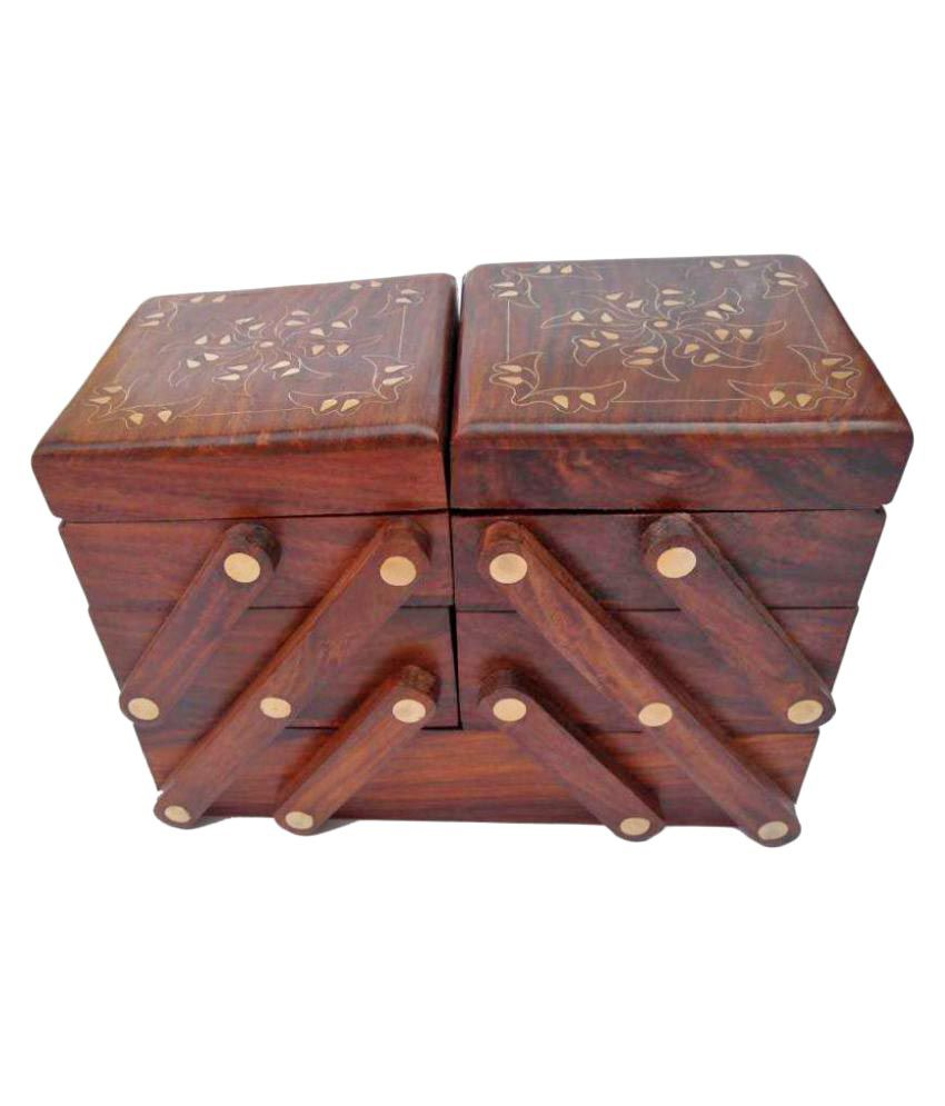 Handicraft Brown Jewellery Box