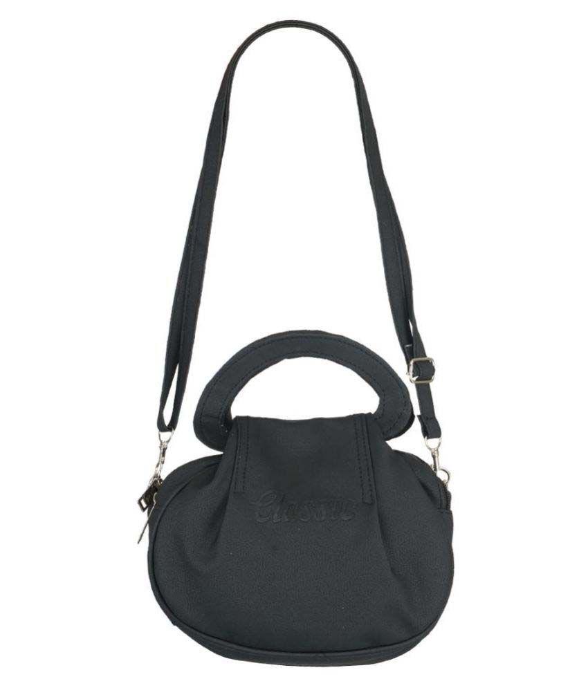 Fristo Black P.U. Sling Bag