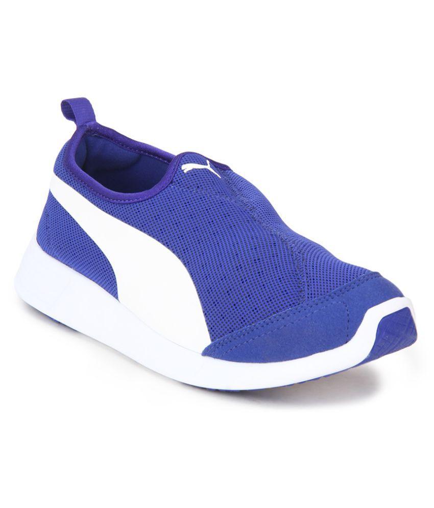 Puma ST Trainer Evo Slip on Blue Running Shoes