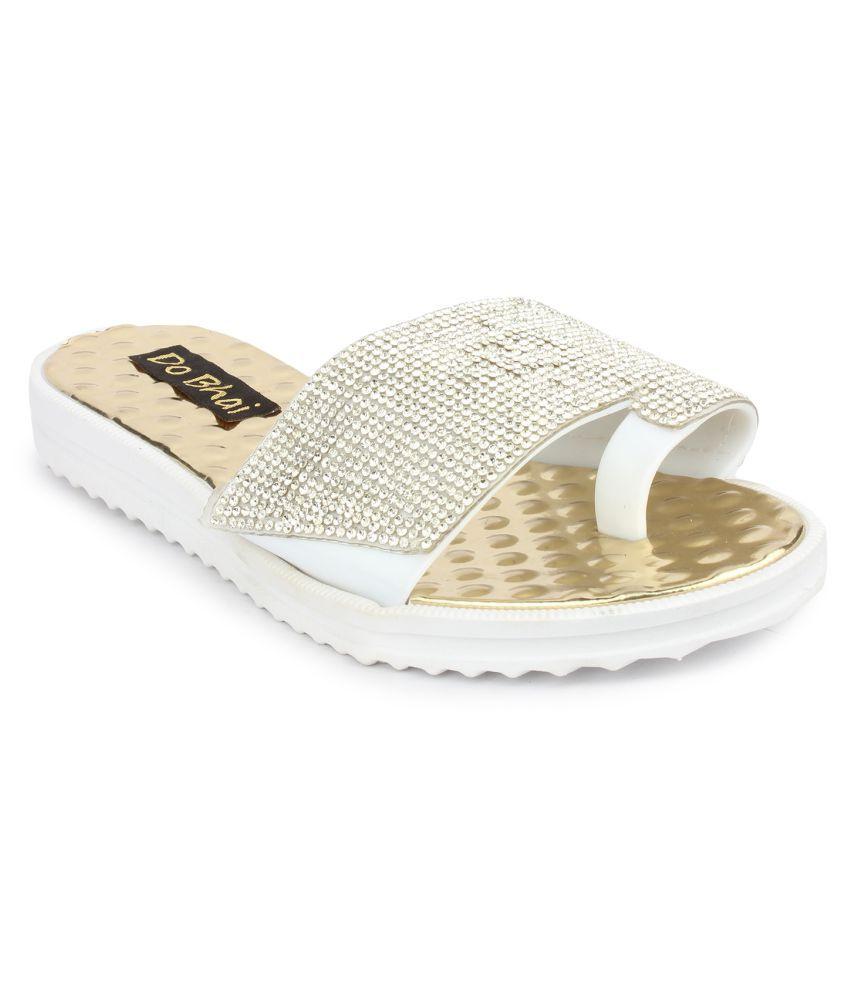 Do Bhai Silver Slippers