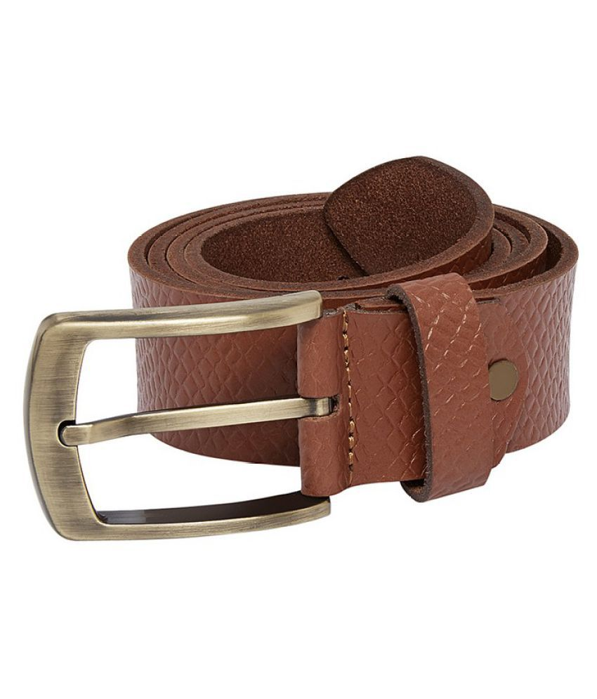 Park Avenue Brown Leather Casual Belts