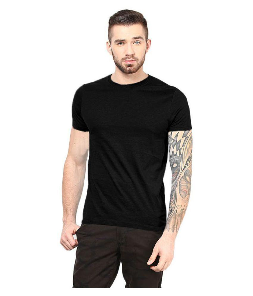 Gallop Black Round T-Shirt