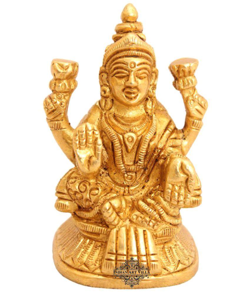 Indianartvilla Laxmi Brass Idol
