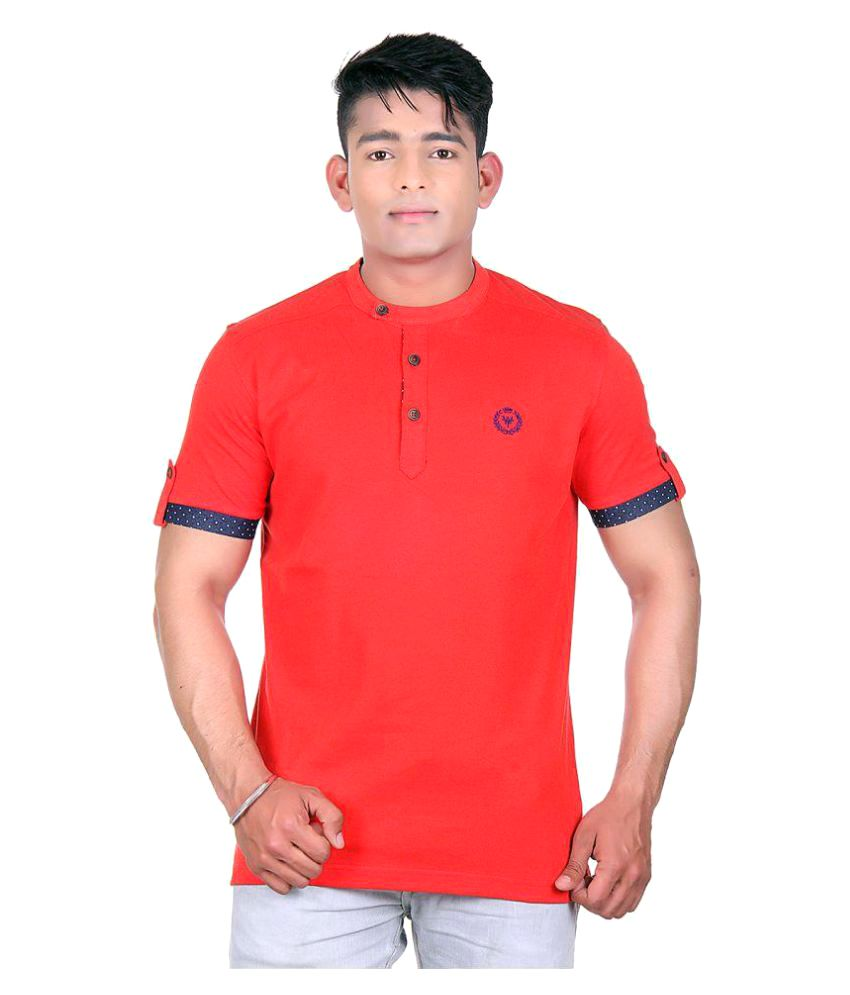 Wilkins & Tuscany Red Henley T-Shirt