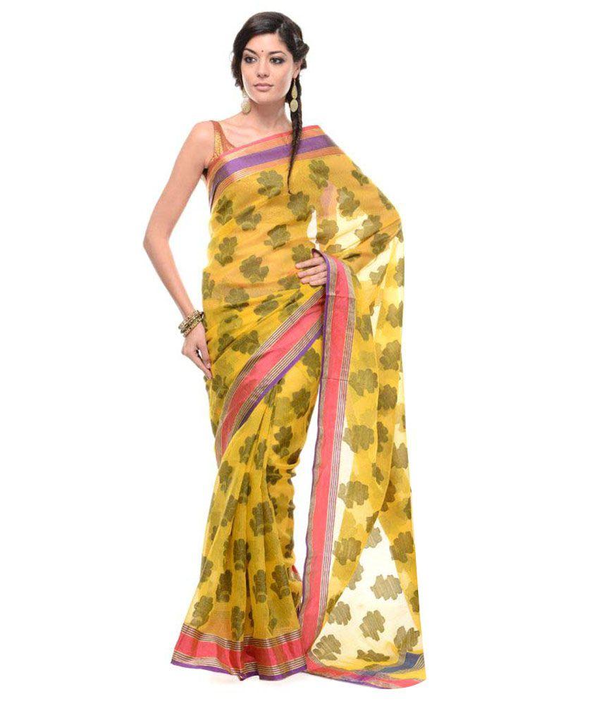 10Der Gold Cotton Silk Saree