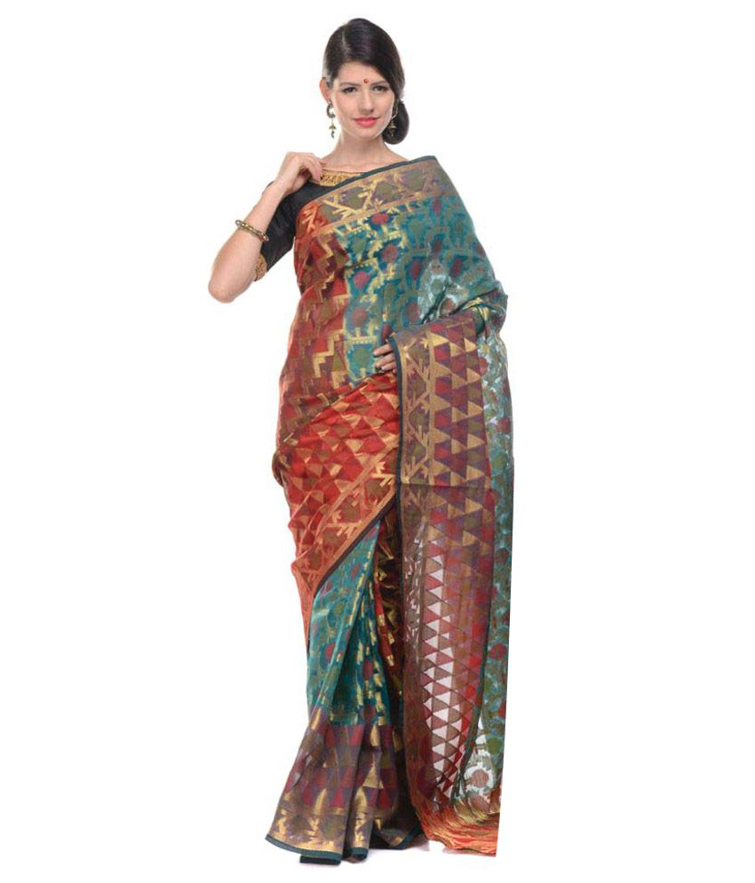10Der Multicoloured Cotton Silk Saree