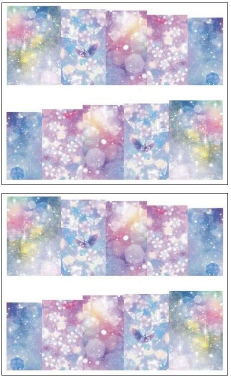 Jenna™ Manicure Water Transfer Nail Art Decals Stickers- Sapphire Series NR-146